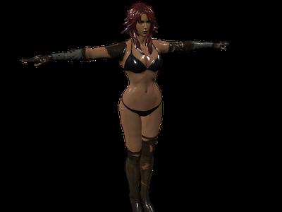 3d Modell nackt